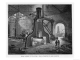 Interior of Factory Showing Nasmyth's Steam Hammer in Action Giclee Print