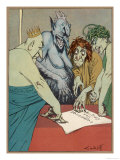 Greed Revenge and Other Devils Gloat Over the Treaty of Versailles Giclee Print