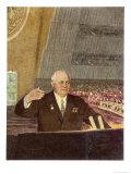 Khrushchev Speaking Giclee Print