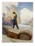 The Mysterious Island, the Discovery of the Chest Giclee Print by Newell Convers Wyeth