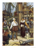 "Sir Richard Grenville in the ""Revenge"" Fights the Spanish But ""Revenge"" is Sunk Giclee Print by W.r. Stott"
