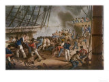 "The Quarter-Deck of the ""Queen Charlotte"" Lord Exmouth's Flagship at the Bombardment of Algiers Giclee Print"