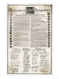 Declaration of Independence Document Giclee Print