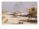 Allied Seaplanes at Kephalo Used for Observation of Positions Bombarded by Warships Giclee Print by Norman Wilkinson