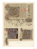 Initial Letters from an English Bible Giclee Print