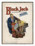 Boy is Torn Between His Addiction to His Radio Set and the Bar of Black Jack Liquorice Giclee Print by Leslie Thrasher