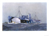 Merchant Ship in Camouflage Giclee Print