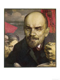 Vladimir Ilich Ulyanov Lenin Depicted as the Helmsman Giclee Print