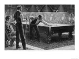Nursing the Balls: Serious Game of Billiards Giclee Print