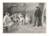 Recruits Await Their Medical Examination Giclee Print by Joseph Straka