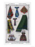 Tartan Accessories, Giclee Print