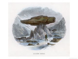 Glacier Tables Where a Boulder Has Protected the Ice and Snow Beneath It from Solar Melting Giclee Print by J.w. Whimper