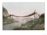 Rope Bridge Over a River Giclee Print