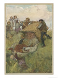 The Merry Wives of Windsor, Act III Scene V: Falstaff is Tipped out of the Laundry Basket Giclee Print by Hugh Thomson