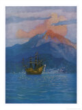 The Galleon at Vera Cruz Giclee Print by Newell Convers Wyeth