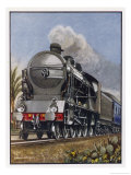 Le Train Bleu Giclee Print by Raymond Way
