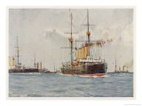 Cruisers of the Royal Navy Giclee Print by Norman Wilkinson