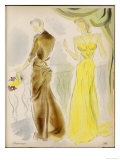Evening Gowns by Balenciaga and Alix Giclee Print