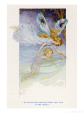 Tom is Guided Along the Stream by a Fairy Giclee Print by Harry G. Theaker