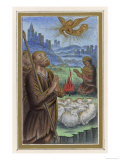 An Angel Tells the Shepherds That Jesus is Born Giclee Print