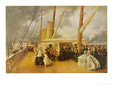 In Cowes Roads Aboard the Royal Yacht Victoria and Albert II Giclee Print by George H. Thomas