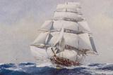 Veleiro navegando Impressão giclée por J. Spurling