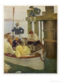 David Balfour at Queen's Ferry Giclee Print by Newell Convers Wyeth