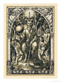Satan Presides at the Sabbat Attended by Demons in Human or Animal Shapes Giclee Print by Bernard Zuber