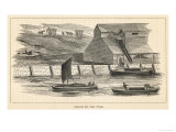 Staith from Which Coal is Being Transferred onto Barges on the River Tyne North-East England Giclee Print