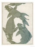 Japanese Carp Twisting Turning and Twining with Wonderful Ease Giclee Print