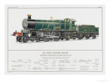 Great Western Railway Express Loco No 190 Waverley Giclee Print by W.j. Stokoe