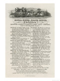 Time-Table of Coaches from Cheltenham Thomas Haines Junior Proprietor Giclee Print
