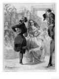 Polka Mania: an Accomplished Couple Excite Admiration in a Ballroom Giclée-Druck von C. Vernier