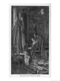 The Fall of the House of Usher Roderick and His Twin Sister Madeline Inside the House Giclee Print by Albert E. Sterner