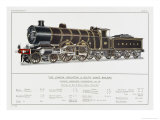 London Brighton and South Coast Railway Loco No 38 Giclee Print by W.j. Stokoe