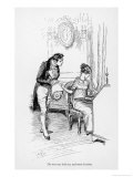 Henry Crawford and Fanny Price Giclee Print by Hugh Thomson