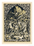 Guillemette Babin at the Sabbat Dances with Demons Performing with Them Acts Giclee Print by Bernard Zuber