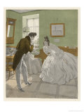 Gentleman of the Romantic Era Invites a Lady to Dance Giclée-Druck von Ferdinand Von Reznicek