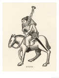 The Miller Riding and Playing the Bagpipes Giclee Print