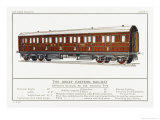 Great Eastern Railway Composite Carriage Giclee Print by W.j. Stokoe