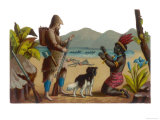 Robinson Crusoe and His Dog with Man Friday Giclee Print