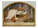 Snow White in Her Glass Coffin is Mourned by the Dwarfs Giclee Print by Marianne Stokes