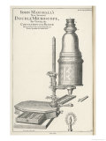 John Marshall&#39;s New Invented Double Microscope for Viewing the Circulation of the Blood Giclee Print by I. Sturt