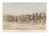 Review of Egyptian Camel Corps at Cairo Giclee Print by Elizabeth Thompson