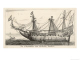 Dutch East Indiaman Giclee Print by Reinier Zeeman