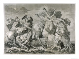 Macbeth, Act I Scene III: Macbeth and Banquo on Horseback Encounter the Three Witches Giclee Print