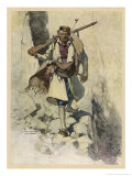 Soldier of Montenegro (Balkans) Fighting the Austrians During World War One Giclee Print by Hoffmann Von Vestenhof