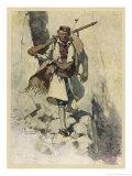 Soldier of Montenegro (Balkans) Fighting the Austrians During World War One Premium Giclee Print by Hoffmann Von Vestenhof