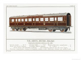 North British Railway Corridor Carriage Giclee Print by W.j. Stokoe