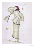 Simple Tailored Costume and Matching Scarf by Madeleine Vionnet Giclee Print by  Thayaht